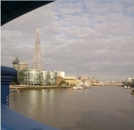 From Tower Bridge (that tall building is the Shard)
