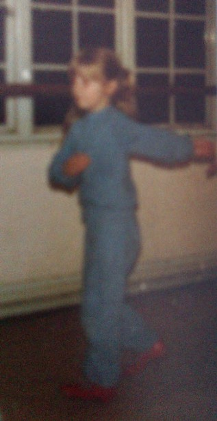 The sensible tracksuit, aged five.