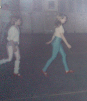 It turns out I didn't have legwarmers then - I remember having real legwarmer envy of the girl behind me in this picture though.  AND she had a two tone leotard / legging combo.  It just wasn't fair.