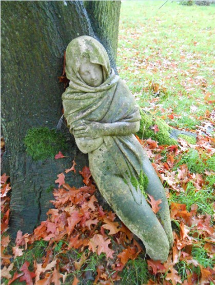 And, um....a stone Mary hiding behind a tree.