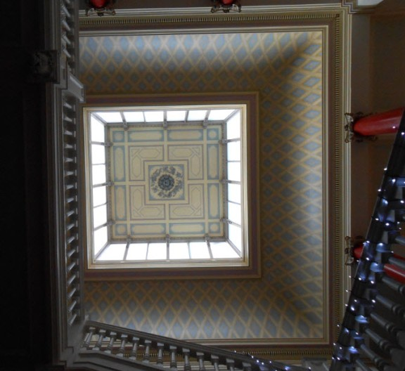 the main ceiling - it took an entire summer to restore