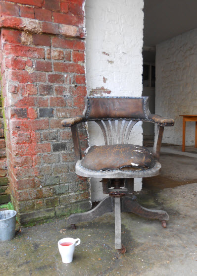 I even got a smoking chair - complete with escaping horse hair
