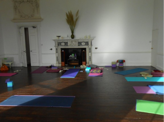 Our yoga room was the old master bedroom