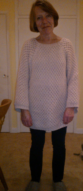 11th January 2014:  My little Mummy in a big jumper.  She promised me that when I woke up on my 21st birthday I would have legs like hers.  Sadly it never happened and I was blessed with my grandmothers rather sturdy tree trunks...)