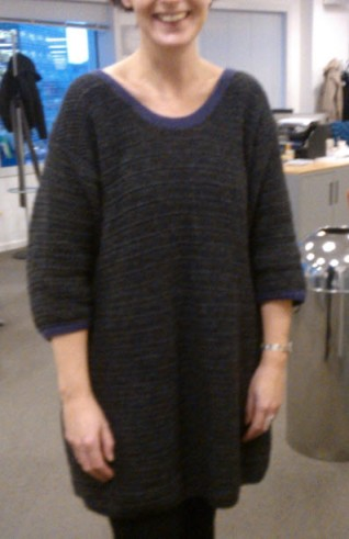 15th January 2014: First outing for the dress I crocheted over Christmas.  It's not very exciting, but it's herringbone treble stitch and at 20minutes a row, it was a labour of love!