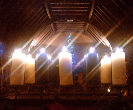2nd January 2014:  Christmas candles at a restaurant with lovely friends