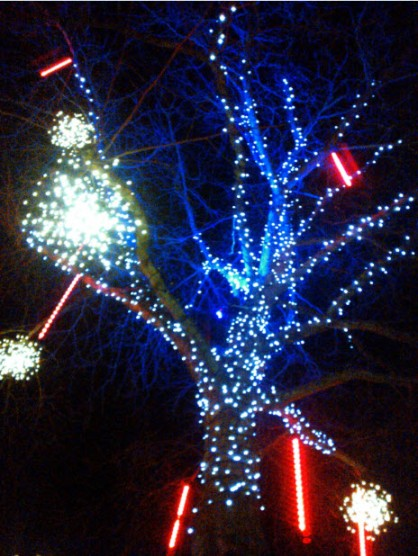 3rd January 2014:  On my way home from visiting the Lovely Nut, Hampstead Christmas lights (get me - so posh!)