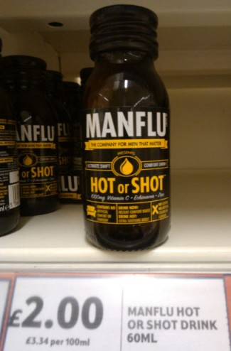 9th January 2014:  Yes, someone has capitalised on it - this appears to be a cure for Man Flu!