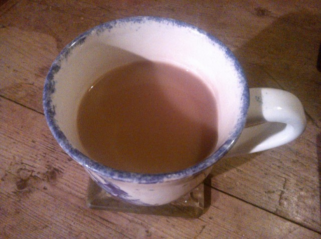 5th February 2014:  A cup of tea sort of day