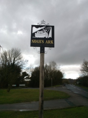 13th February 2014:  With all the water in the UK over the past few months, this is possibly the most aptly named village.
