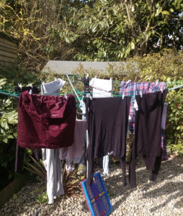 6th March 2014:  The first time this year it was warm enough to hang out my washing - hooray!