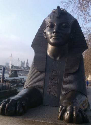 12th March 2014: I was early for an event in London so I took a wander.  I liked this view at Cleopatra's Needle with Big Ben and the Houses of Parliament poking out from behind a bit of Egypt.