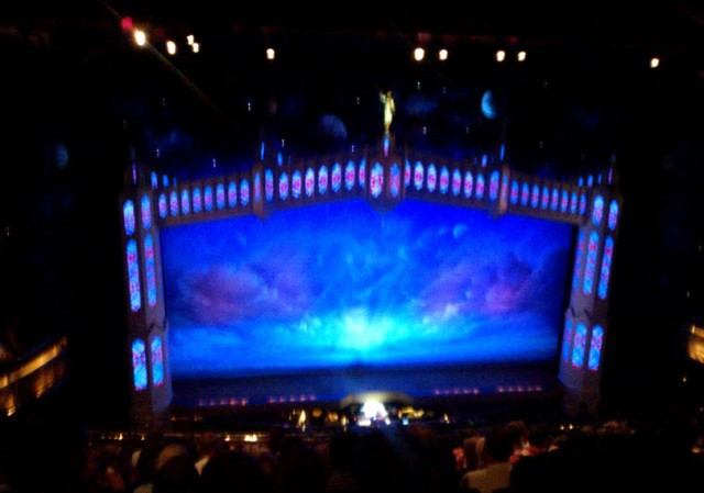 A slightly blurry stage at the laughing interval
