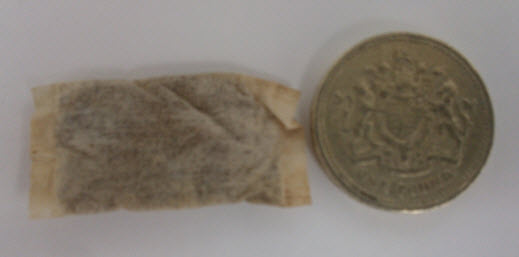 It's the thing on the left.  The thing on the right is a pound coin, to give you an idea of size...