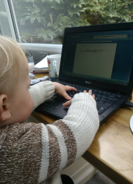 And doing a spot of work (which was interrupted frequently for sips of my black coffee!)