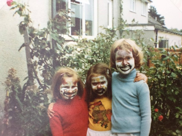August 1983 We were great at face painting...