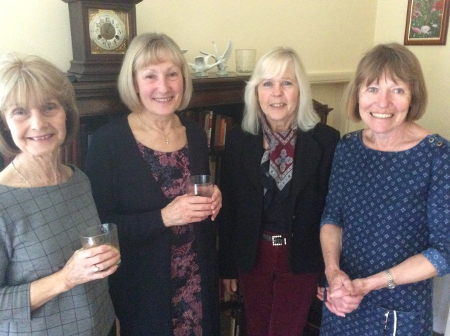 My Mum and three of her oldest friends(going back to her late teens), who by default have known me all my life, bless them.