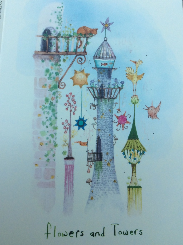 I LOVE the picture on this card and the idea that it is Pog Towers